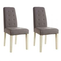 "Lot de 2 Chaises Design ""Gaston"" 95cm Marron"