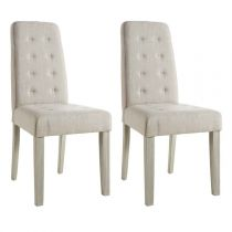"Lot de 2 Chaises Design ""Gaston"" 95cm Beige"