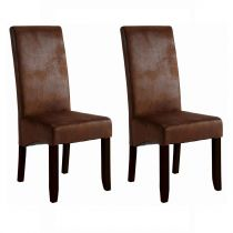 "Lot de 2 Chaises Design ""Pakka"" 108cm Marron"