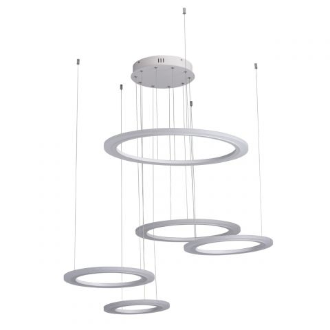 "Lampe Suspension LED ""Cosmos"" 180cm Blanc"