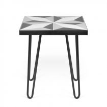 "Temahome - Table d'Appoint Design ""Arrow"" 45cm Noir Mat"