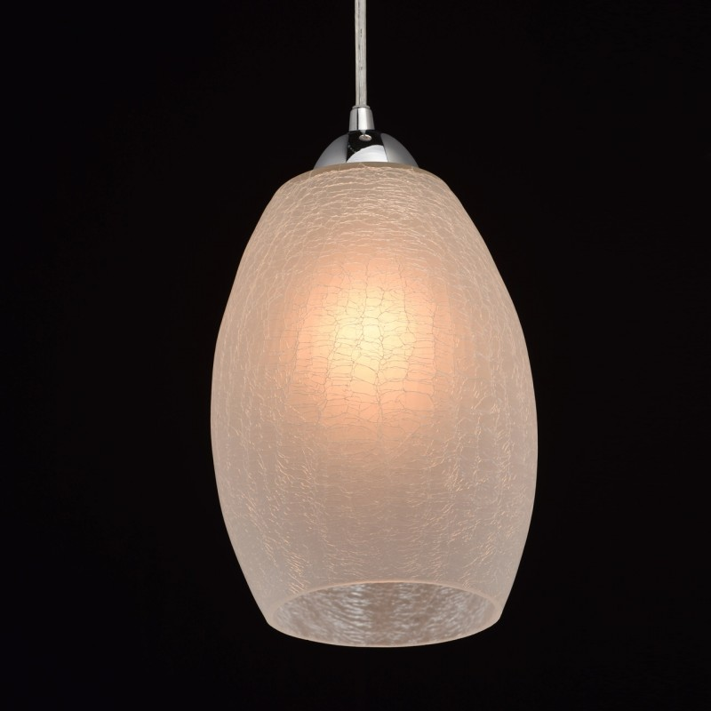 Lampe suspension design verre daka 121cm blanc for Lampe suspension design