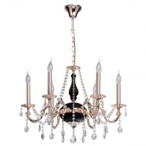 "Lustre Suspension Métal ""Chideric"" 100cm Noir & Or"