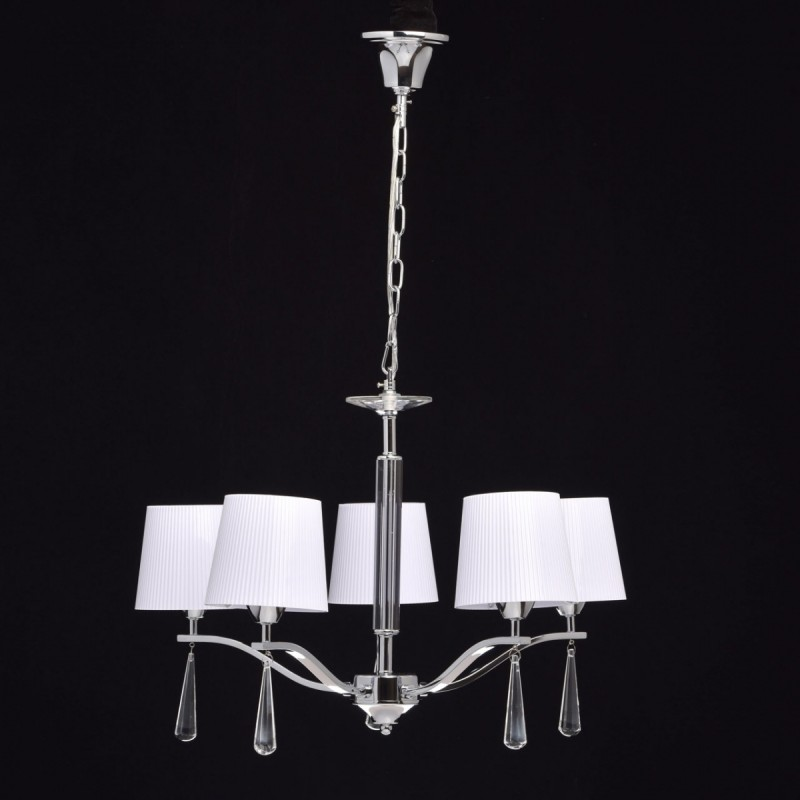 lustre suspension en m tal quito 85cm blanc argent. Black Bedroom Furniture Sets. Home Design Ideas