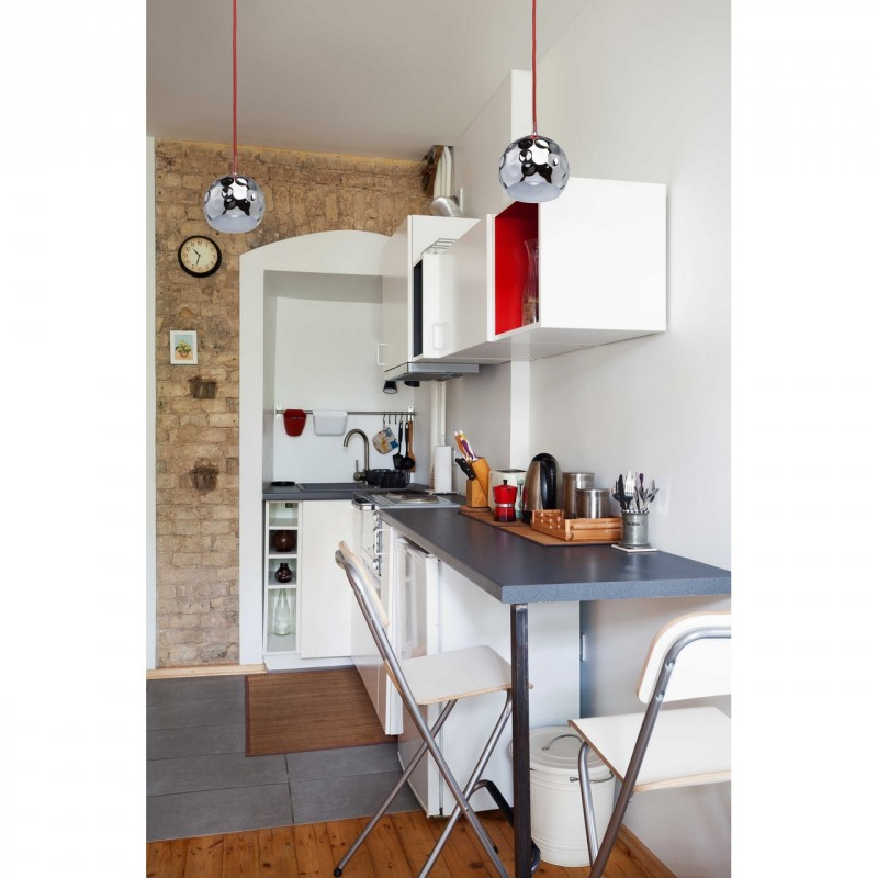 lampe suspension m tal ocha 200cm rouge argent. Black Bedroom Furniture Sets. Home Design Ideas