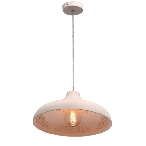 "Lampe Suspension Design ""Pani"" 120cm Blanc"