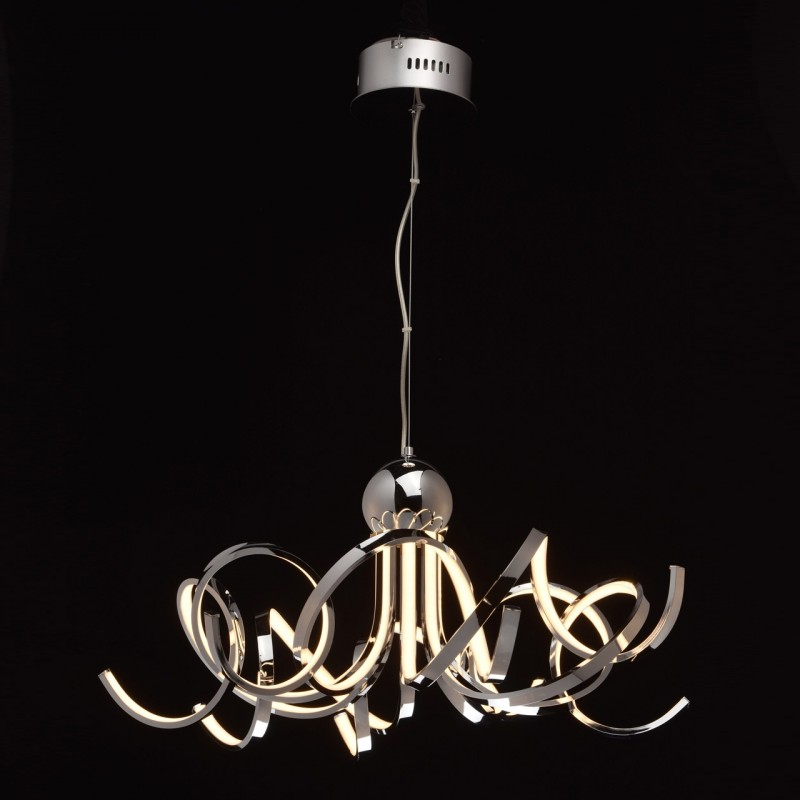 lampe suspension led dama 150cm argent. Black Bedroom Furniture Sets. Home Design Ideas