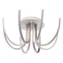 "Plafonnier LED Design 8 Têtes ""Flore"" 60cm Or"