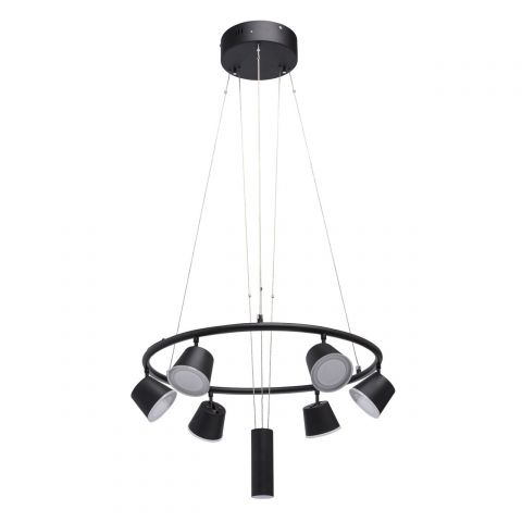 "Lustre Suspension LED ""Simplica"" 150cm Noir"
