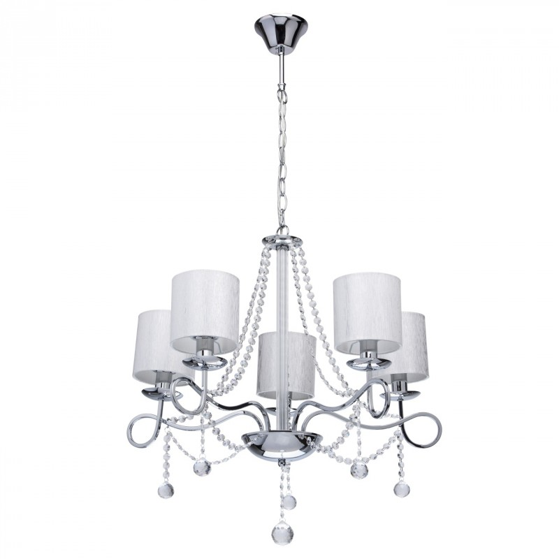 lampe suspension m tal rosalie 64cm blanc. Black Bedroom Furniture Sets. Home Design Ideas