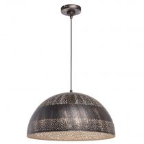 "Lampe Suspension ""Armel"" 120cm Marron"