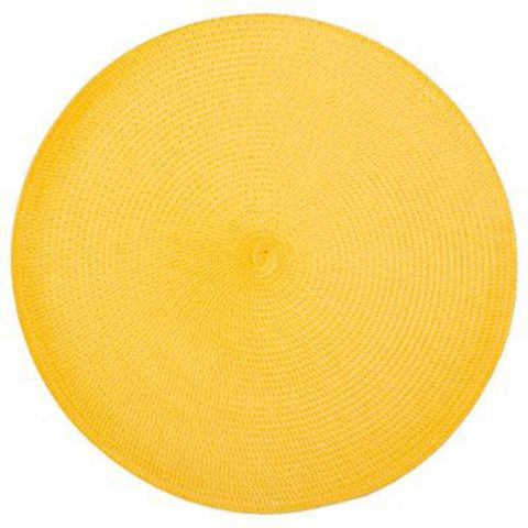 "Set de Table Rond ""Tressé"" 38cm Jaune"