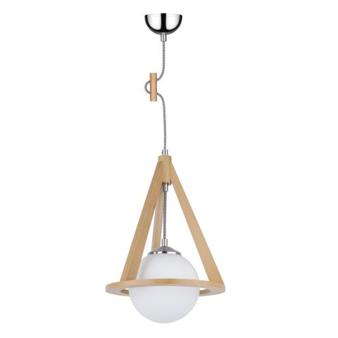 Lampe suspension bois konan iii 100cm h tre blanc stri for Lampe suspension bois