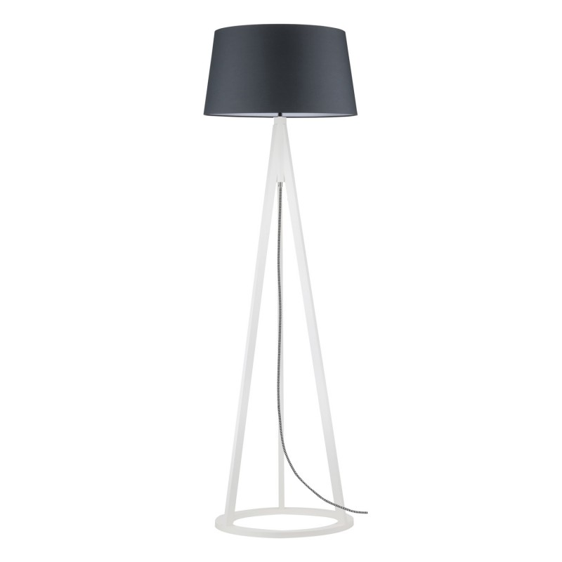 lampadaire tr pied bois konan v 173cm anthracite blanc. Black Bedroom Furniture Sets. Home Design Ideas