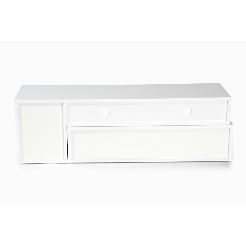 meuble tv design bunt 39 130cm blanc rouge. Black Bedroom Furniture Sets. Home Design Ideas
