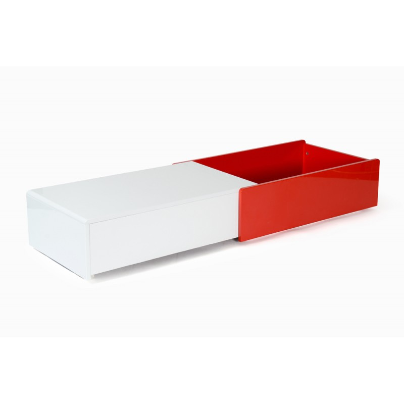 table basse design bunt 90cm blanc rouge. Black Bedroom Furniture Sets. Home Design Ideas