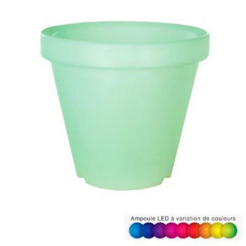 Cache Pot Lumineux Led 35cm Multicolore