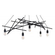 "Lampe Suspension Design ""Glenn"" 120cm Noir"