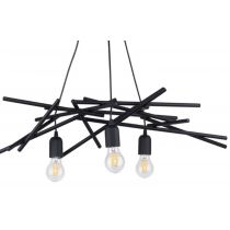 "Lampe Suspension Design ""Glenn"" 73cm Noir"