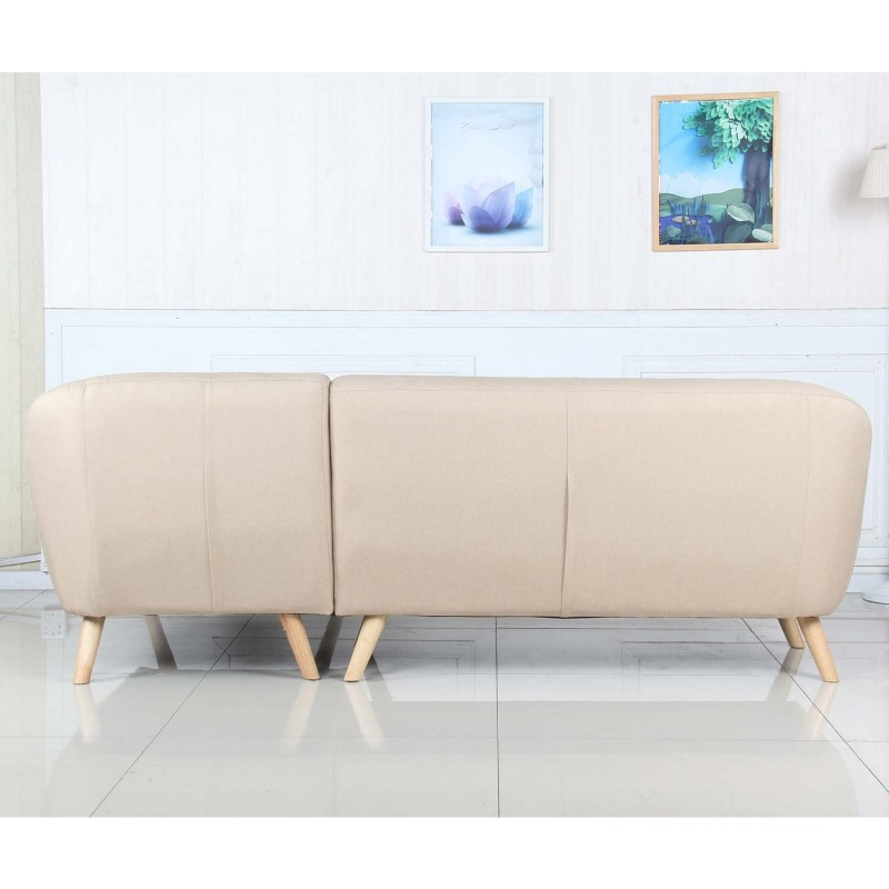 Canap d 39 angle scandinave hygge 229cm beige - Cocktail scandinave canape d angle ...