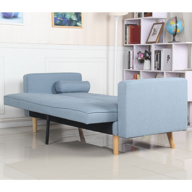 Canap convertible 3 places scandinave navya bleu clair - Canape convertible scandinave ...
