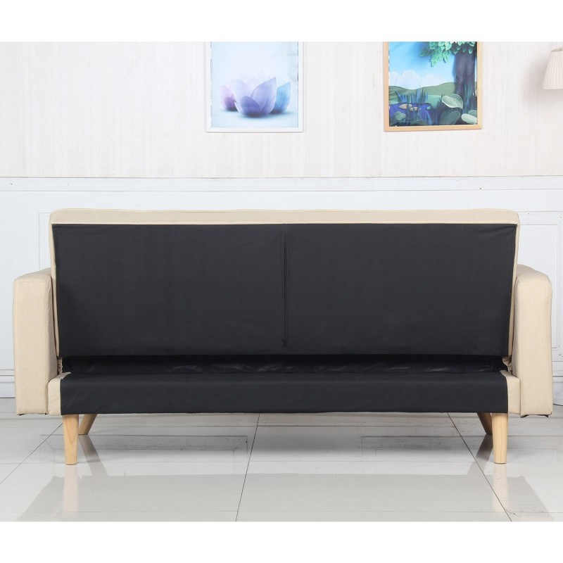 Canap convertible 3 places scandinave navya beige - Canape 3 places scandinave ...