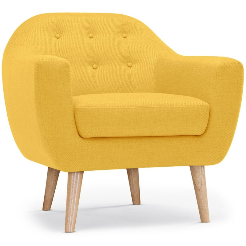 fauteuil scandinave tissu lopy 78cm jaune. Black Bedroom Furniture Sets. Home Design Ideas