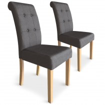 "Lot de 2 Chaises Design ""Oliver"" 99cm Taupe"