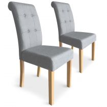 "Lot de 2 Chaises Design ""Oliver"" 99cm Gris"