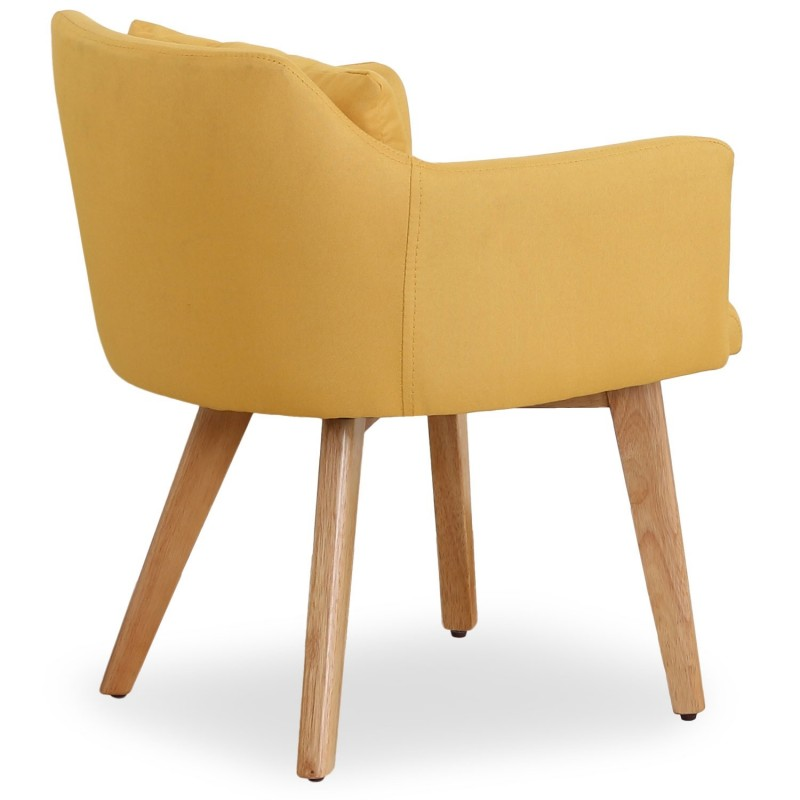 fauteuil scandinave alan 70cm jaune. Black Bedroom Furniture Sets. Home Design Ideas
