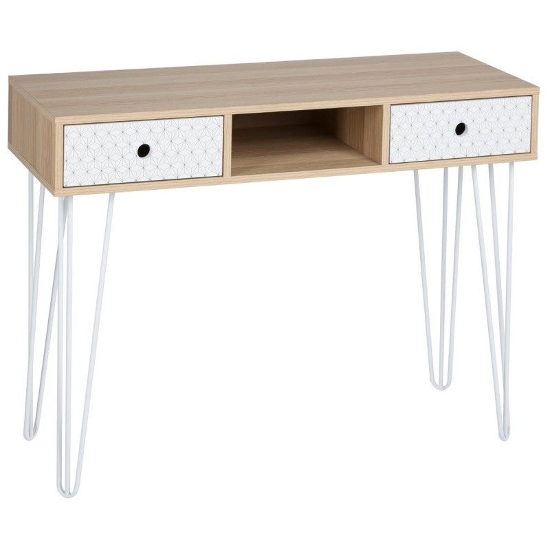 console 2 tiroirs scandinave effy 100cm naturel. Black Bedroom Furniture Sets. Home Design Ideas