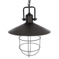 "Lampe Suspension Industriel ""Boat"" 51cm Etain"