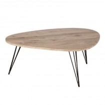 "Table Basse Industriel ""Neile"" 112cm Naturel"