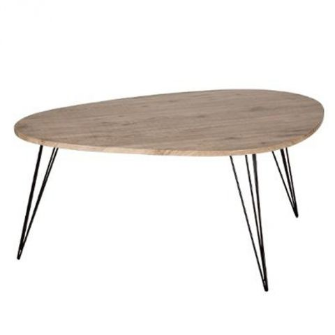 "Table Basse Industriel ""Neile"" 97cm Naturel"