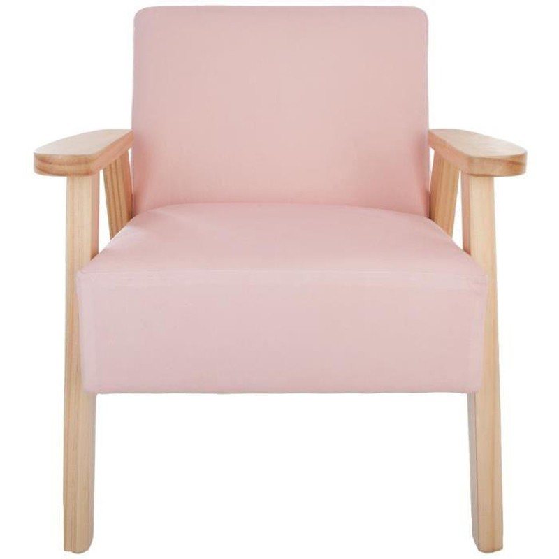 fauteuil enfant scandinave didi 48 5cm rose. Black Bedroom Furniture Sets. Home Design Ideas