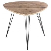 "Table d'Appoint Industriel ""Neile"" 69cm Naturel"