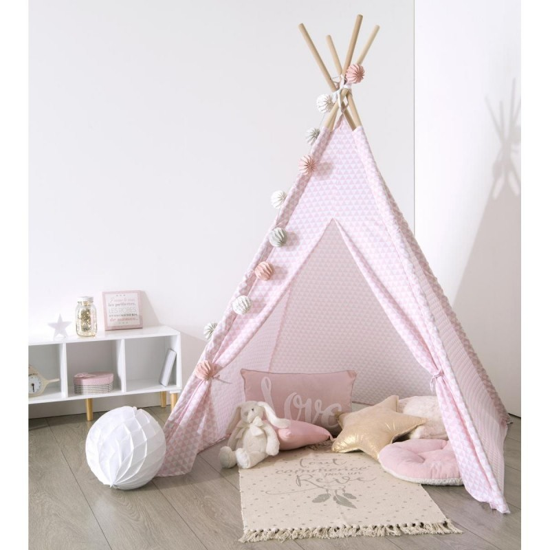 tipi d co enfant 160cm rose. Black Bedroom Furniture Sets. Home Design Ideas