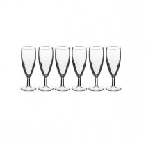 "Lot de 6 Flûtes à Champagne ""Banquet"" 15cl Transparent"
