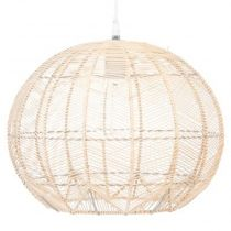 "Lampe Suspension ""Hipic"" 32cm Beige"
