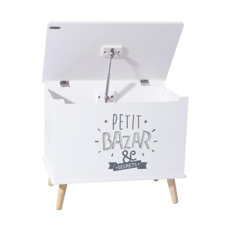 coffre rangement enfant petit bazar blanc. Black Bedroom Furniture Sets. Home Design Ideas