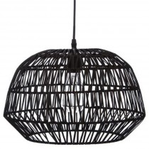 "Lampe Suspension ""Boé"" 38cm Noir"