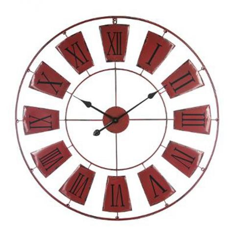 Horloge murale design antica 76cm rouge for Prix horloge