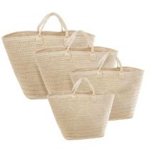 "Lot de 4 Paniers de Rangement ""Folkdream"" Beige"