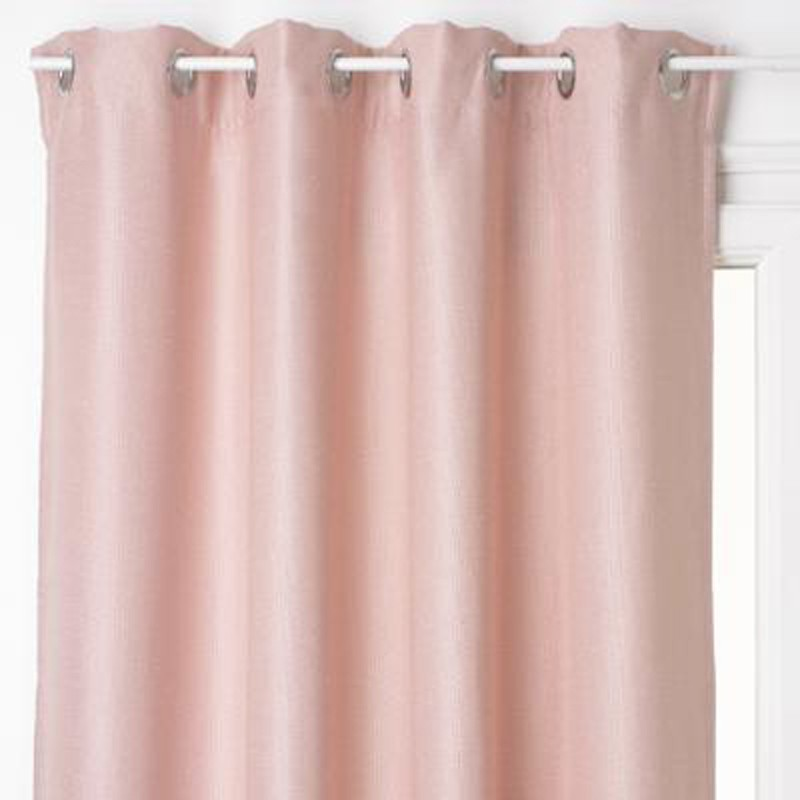 Rideau occultant lino 140x260cm rose for Rideau occultant rose pale