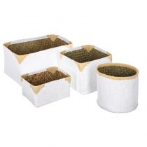 "Lot de 4 Paniers de Rangement Osier ""Dream"" Blanc"