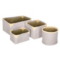 "Lot de 4 Paniers de Rangement Osier ""Dream"" Taupe"