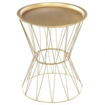 "Table d'Appoint Design ""Kate"" 52cm Or"