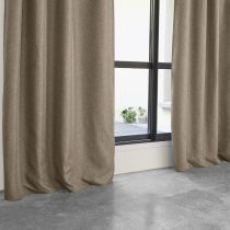 """Rideau Occultant """"Maille"""" 140x260cm Taupe"""