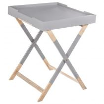 "Table Plateau Design ""Hedra"" 59cm Gris"