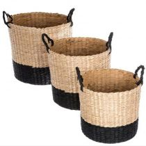 "Lot de 3 Paniers ""Essential Mood"" Noir"